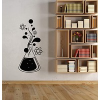 Vinyl Wall Decal Chemistry Science Atom Molecules For School Stickers (3106ig)