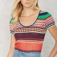 Trip Out Striped Knit Top