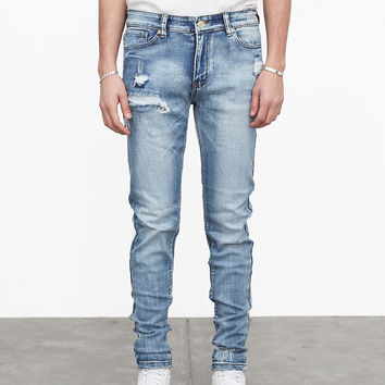 Light Acid Washed Denim Jeans