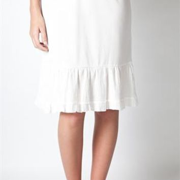 Ruffled Edge Skirt Extender Slip