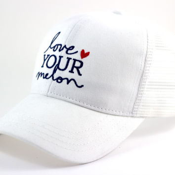 White Mesh Cap | Love Your Melon