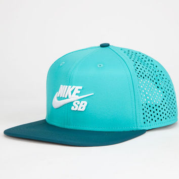 3e4088452af Nike Sb Performance Mens Trucker Hat Teal Blue One Size For Men 25402724601