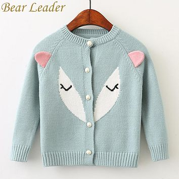 Children's Fox 3D Knitted Sweater 3T to Size & (Girls Adorable Fox cardigan)
