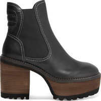 See by Chloé - Leather platform ankle boots