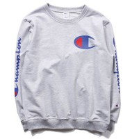 '' Champion ''Fashion Casual Women Men Pullover Long Sleeve Round Neck Sweater