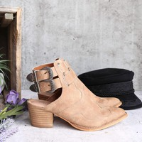 Mi.iM - altair - western paneled pointed-toe open booties - more colors