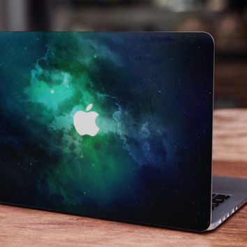 Galaxy green space stars universe celestial Nebula MacBook skin decal laptop sticker vinyl decal MacBook sticker laptop skin space skin