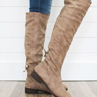 Down Memory Lane Boots - Taupe