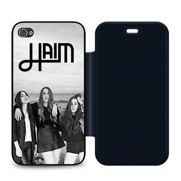 Haim Leather Wallet Flip Case iPhone 4 | 4S