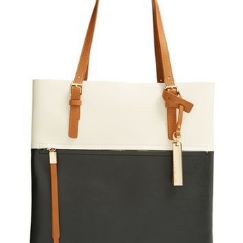 Women's Vince Camuto 'Tyler' Two-Tone Leather Tote