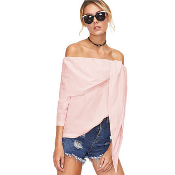 'Perry' Off Shoulder Tunic Top
