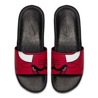 1710 Nike Benassi Solarsoft NBA Chicago Bulls Men's Slides Slippers 917551-600