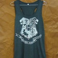 Harry Potter tank top Hogwarts shirt S M L XL light black quote sleeveless shirt
