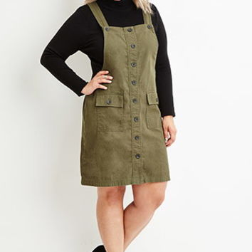 Plus Size Cargo Overall Dress