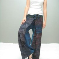 thai fisherman pant stone wash LONG by thaitee on Etsy