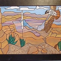 Hawk In the Desert, Hunting for Prey, Wood Sculpture Wall Art, Wall Hanging, Wall Decor