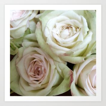 WhiteRoses2 Art Print by Regan's World