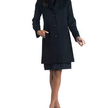 Fleurette Notch Collar Coat