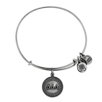 Alex and Ani Delta Delta Delta Charm Bangle - Russian Silver