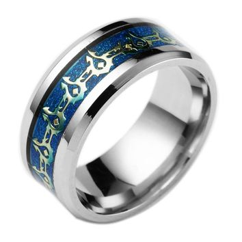 2017 New Fashion Horde Ring Stainless Steel Jewelry Hot Movie World of Warcraft Rings Lord of The One Ring
