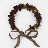 Urban Outfitters - Katie Burley Millinery Plum Flower Crown Headwrap