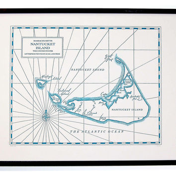 Nantucket Map Print, Maps