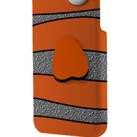 Best 3D Full Wrap Phone Case - Hard (PC) Cover with Ornamental Orange Fish Design