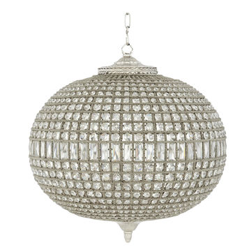 Eichholtz Kasbah Oval Chandelier - Nickel (L)