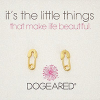 Dogeared Gold It's The Little Things Safety Pin Stud Earrings