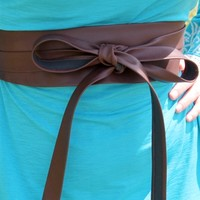 dark brown wrap belt by southern fried chics