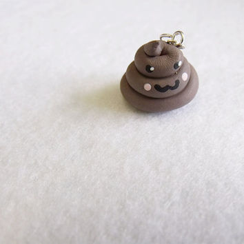 Devious Poop Charm by CapricaAccessories on Etsy