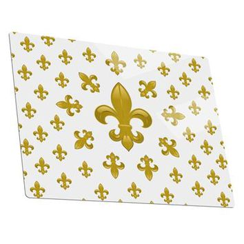 Gold Fleur De Lis AOP Metal Panel Wall Art Landscape - Choose Size by TooLoud