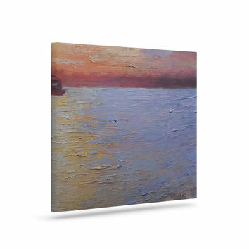 "Carol Schiff ""Evening Anchor"" Orange Painting Canvas Art"