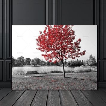 Canvas painting Pictures Wall art print landscape flower canvas painting tree home deor Pictures print for Living Room
