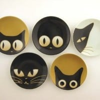 Cat Eyes Small Dishes Set of 5 Assorted