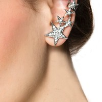 Shooting Star Diamond Ear Cuff