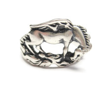 Sterling Pegasus Winged Horse Ring Size 6