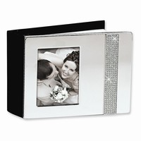 Nickel-plated Glitter Photo Album - Engravable Personalized Perfect Wedding Gift