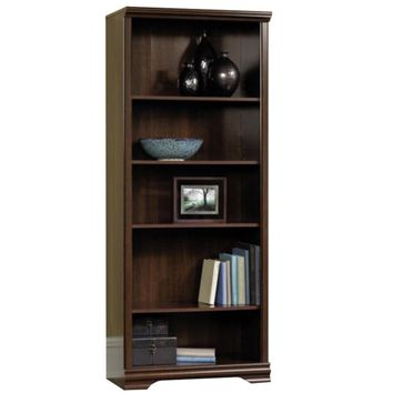 Sauder Furniture Carolina Estate 5-Shelf Adjustable Bookcase, Cherry | 411897
