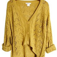 Cozy Autumn Over-sized Sweater, Mustard