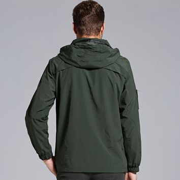 Jacket Men Waterproof Casual Army Green Outwear Military Man Cotton Jackets Overcoat Mens Parka Thermal Clothing
