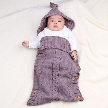 Large Sleeping Bag Knit Crochet Cotton Swaddle Wrap