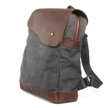 Student Backpack Children KUJING Leather Backpack High-grade Retro Canvas Large Capacity Student Backpack Hot Cheap Travel Casual Men And Women Backpack AT_49_3