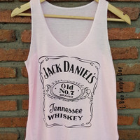 PINK Jack Daniels Tank Top Hipster tank top Tank top women Fitness top Summer Cloth Gift Summer fashion tshirt Vintage tank tops for woman