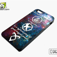 Divergent Mortal Instrument And Hunger Game iPhone 5s Case Cover by Avallen