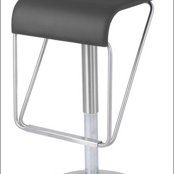 Tyrion Gaslift Bar Stool, Gray