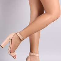 Liliana Buckled Ankle Strap Chunky Heel
