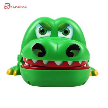 Green high quality Large Crocodile Mouth Dentist Bite Finger Game Funny Toy Gift Funny Gags Toy Novetly for children