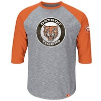 Majestic Detroit Tigers Cooperstown Collection Home Stretch Raglan Tee