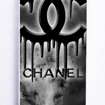 iPhone 5 Case - Rubber (TPU) Cover with Coco Chanel Black Logo Rubber Case Design